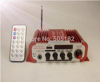 2 colors Blue/ red Mini Power Hifi Audio Stereo Amplifier AMP For Home Boat Car MiC MP3 FM USB Auto Audio Accessories