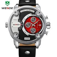 Japan MIYOTA Movement Sports Diving Watch 30 Meter Waterproof Military Army Genuine Leather Strap Watch Weide Men Wristwatch
