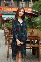 200*80cm The new Korean female models thick winter scarf horn button hooded cape cloak to increase dual air conditioning