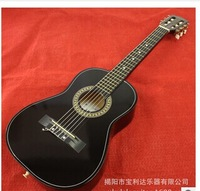 "free shipping 30 ""classical piano guitar head Steel folk acoustic guitar General two string wholesale Black guitar"