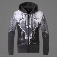 2014 new winter Ashkenazi European and American fashion men's ideas zipper cardigan sweater man hoody cotton hoodies