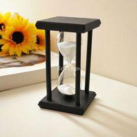 New 30  Minute Black Wood Frame Hourglass Sandglass  Sand Clock Timer Gifts Gift Home Decor  30
