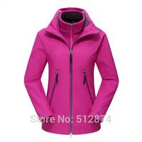 3 Kinds Of Wear Real Brand Fashion Sport Women ski-wear Waterproof Windbreaker Breathable Coat Womens Coats And Jackets