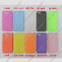 TPU back cover for Iphone5 5s 4 4s with dust proof plug