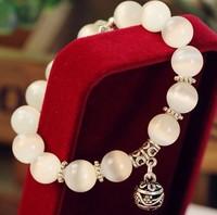 Natural opal beads bracelets crystal fashion women bracelet vintage stainless steel braceletes 030