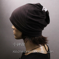 Male dual two-color perimeter hat cap cotton bare-headed 100% hat hip-hop cap collars muffler scarf spring and summer hat male