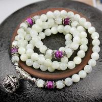 Top Quality Natural silveryarn Tridacna Bracelet 6mm 108pieces beads bracelet Free Shipping