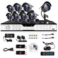 Zmodo Security DVR Recorder 16 Channel 8 600TVL CCTV Surveillance Camera System