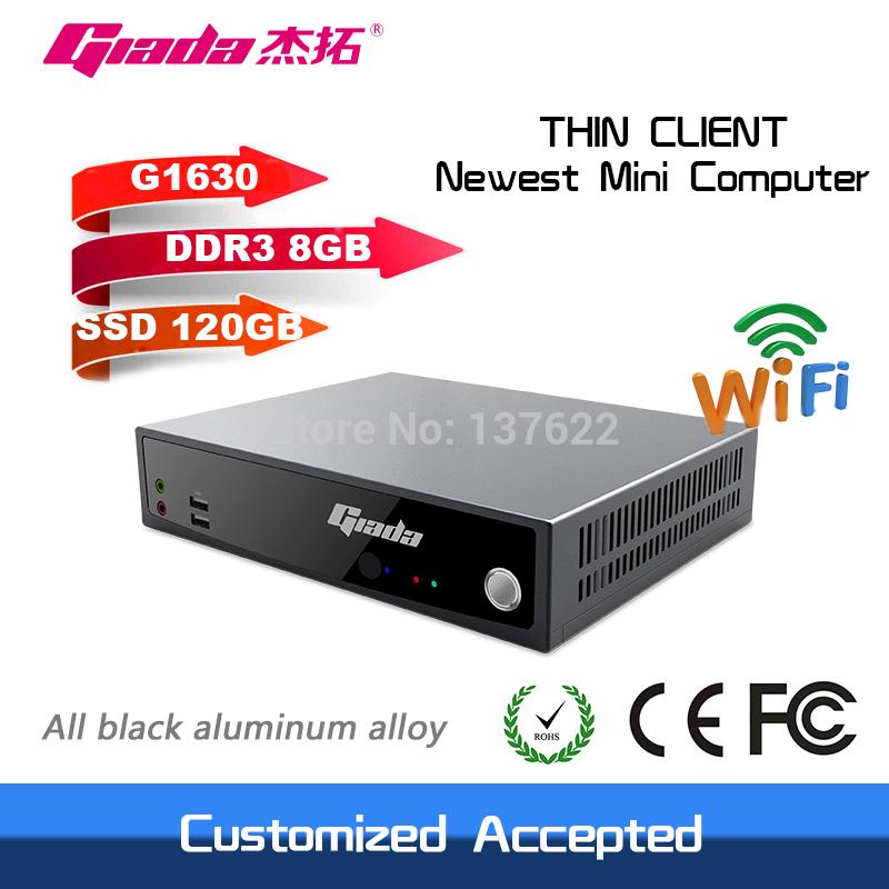 dual core 2.3GHz support HD intel celeron G1630 windows/linux HDMI+VGA thin client mini computer 8GB RAM 120GB SSD(China (Mainland))