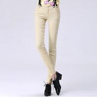 2014 women pants casual trousers dot print  bib pants lady overalls fashion pencil pants autumn and spring