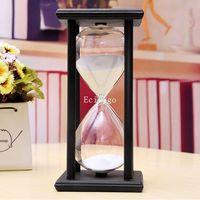 New 60 Minute Black Wood Frame Hourglass Sandglass  Sand Clock Timer Gifts Gift Home Decor  30