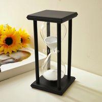 New 45  Minute Black Wood Frame Hourglass Sandglass  Sand Clock Timer Gifts Gift Home Decor  30