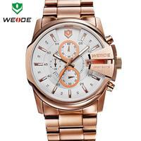 Free shipping 2014 WEIDE luxury brand sport watch waterproof stopwatch hour date 30m watches quartz military men's wristwatches