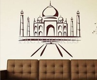 Free Shipping 60x65cm Islamic wall art Muslim Art Islamic Architecture Wall Sticker Vinyl Decal adesivo de parede [4 4016-081]