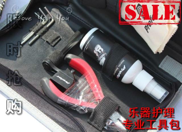 Prefox TK002 musical instrument nursing set guitar cleaning strings adjust set tool bag(China (Mainland))