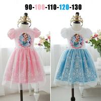 2014 high quality free shipping 5 pcs/lot  girls cartoon dress girls short sleeve party dress 2-6years