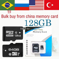 100pcs Best memory card128gb 64GB 32GB  8GB 4gb class 10 6 4  Micro Sd Card Micro SDHC +memory cards wiht  Adapter+Free dhl