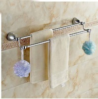 Free Shipping!  Dual Hangers Wall Mounted Towel Rack Holder Round Base Towel Hanger With 4 Hooks