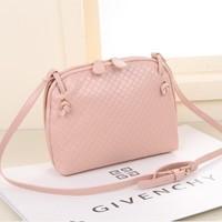 Korean style women handbags retro mini woven shoulder bag messenger bag woman zebp095 free shipping