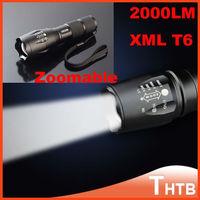 Self defense UltraFire E17 CREE XM-L T6 2000 Lumens tactical Cree Zoomable LED shocker Torch lantern flashlight flash light