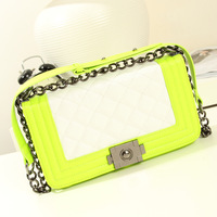 2014 new small fragrant wind women handbags quilted bag chain bag vintage buckle zebp080 free shipping