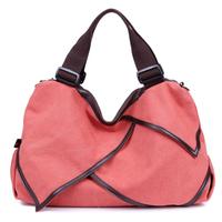 Free Shipping!!2014 New Arrivel High Quality Canvas Women Handbag Ruffles Shoulder Bag For Grils Women Crossbody Bag