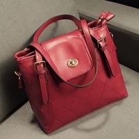 Korean style fashion women handbags quilted bag shoulder bag  factory direct zebp091 free shipping