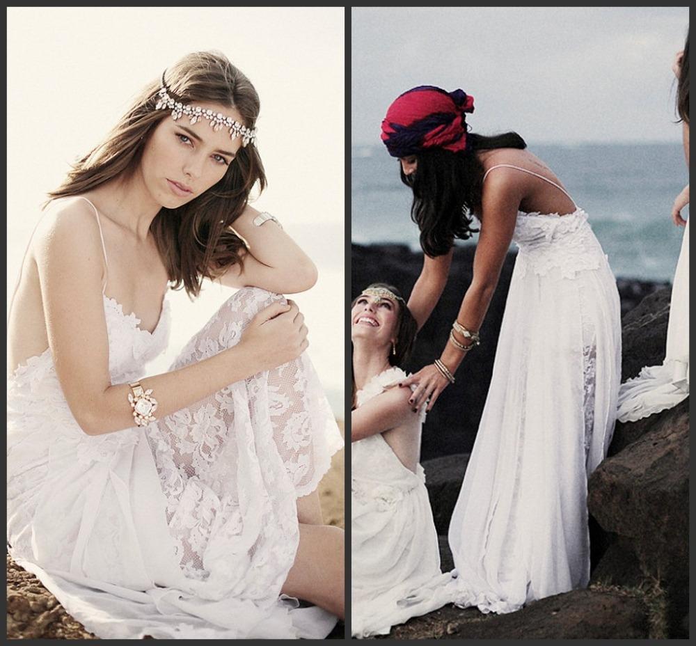 elegante 2014 vestidos de praia branco simples appliqued querida trem sweep backless chiffon vestidos de noiva barato de00823(China (Mainland))