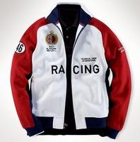 Men's Moto Car Racing Polo Hoodies Brand Full Zipper Fleece Polo Sweatshirts Winter Spring Autumn Coats