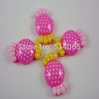 Free Shipping! 100Pcs Resin Candy Flatback Cabochon Scrapbook Rose 22x13mm