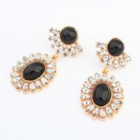 Wholesale Fashion colorful Gem statement Geometry earrings new hot style earring for women 2014 Antique Earrings