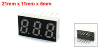 Dual Row Common Cathode Triple Digits Red LED Numeric Display 21x11mm