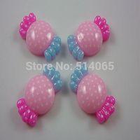Free Shipping! 100Pcs Resin Candy Flatback Cabochon Scrapbook Pink 22x13mm