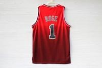 Free Shipping S-XXL Chicago 1 Derrick Rose Jerseys, Cheap Basketball Jersey Resonate Derrick Rose New Rev 30 Embroidery Logo