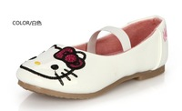 2014 Spring and Autumn Girls princess shoes flat leather shoes