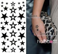 star temporary tattoo sticker / waterproof / female / tattoo sticker star freeshipping