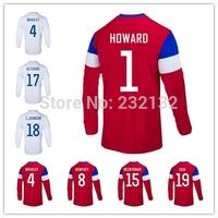Top Quality 14/15 Away Red Home White Jerseys Tim HOWARD YEDLIN BRADLEY BEASLEY Clint DEMPSEY JONES BECKERMAN ALTIDORE ZUSI