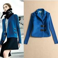 Winter 2014 Women Knit Long Sleeve Wool Short Coat  140903X01