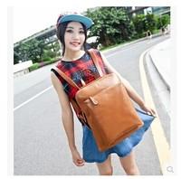 New Female genuine leather backpack popular vintage school style bag shoulder girl travel bags