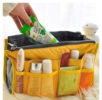 New in 2014 High quality women travel insert bags handbag cosmetic bags cosmetic organizer case 10 colors free shipping