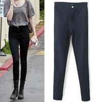 2014 Autumn trousers Europe & America retro woman slim thin elastic waist jeans pencil pants tight skinny women casual pants