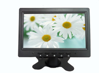 Wholesale!  7 inch  video monitor  with AV/VGA/BNC  for cctv camera/security system ,16:9 wide TFT panel