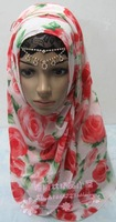 180*70 48 pcs/lot floral Muslim scarf, hijab scarf , wedding scarf ,for wholesale,on promotion,48 colors random,no underscarf