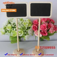 Free Shipping 12x MINI BLACK CHALKBOARD ON STICK STAND PLACE HOLDER | WEDDING Party Decorations Width edge Rectangle
