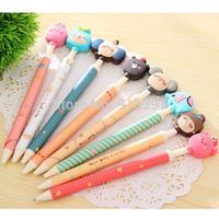 100PCS Korea Stationery Lovely Forest Family Pen Ballpoint Pen Cartoon Creative Ball Pen
