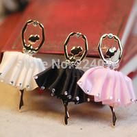 Beatiful Ballet Girl Alloy Rhinestone Jewelry DIY Accesorios, Phone Findings Handmade,sold per parket of 1 set (4pcs)