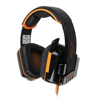 EACH G8000 Stereo Gaming Headphone Headset Headband with Mic LED Light for PC Game  free shipping