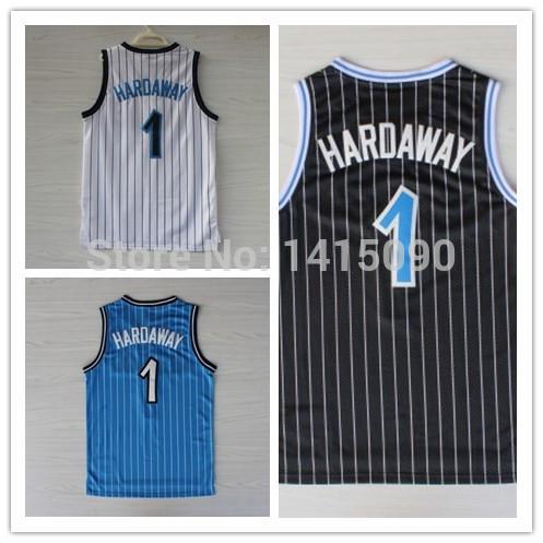 Free Shipping Orlando Jersey Penny Hardaway #1 Cheap Throwback Basketball Jerseys Embroidery Logo USA Retro Basketball Jersey(China (Mainland))