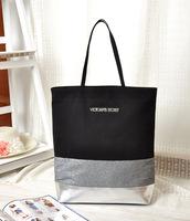 Promotion 2014 Hot Victoria Purple Carves sequined   Large Travel Bag   Work Shoulder  Bag Vs Real Photo a1002