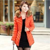 2014 new fashion top quality thick women parkas winter jacket women winter coat women down & parkas plus size 5 colors
